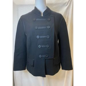 Zara Military style wool jacket black XL
